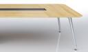 meeting table in light oak wood
