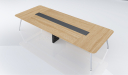 meeting table with oak wood table top