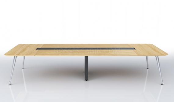 conference table in light oak finish