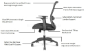 office chair with advanced ergonomic features listed
