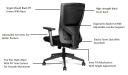 'Magnum A' Office Chair With Adjustable Back Support
