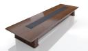 'Royale' 22 Feet Boardroom Table In Sapele Veneer
