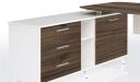 'Lipa' 6 Feet Desk With Walnut Laminate Top