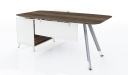 contemporary L shape desk with side cabinet
