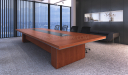 modern conference room with large table