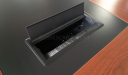 meeting table with inbuilt cable box