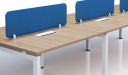 'Virgo' 2 Seater Workstation In Light Wood