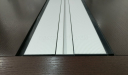 conference table top with flip open wire management panel