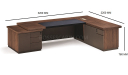 'Miro' Office Table In Walnut Wood Finish