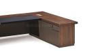 'Miro' Office Table In Walnut Wood Finish