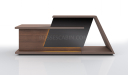 large reception table in walnut wood
