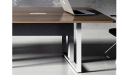 conference table with wire management provision in the legs