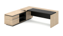 'Euro' 8 Feet Office Desk In Light Oak Finish
