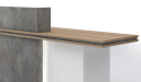 'Inspira' 8 Feet Reception Desk In Stone Gray Finish