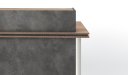 'Inspira' 6 Feet Reception Desk In Stone Gray Finish