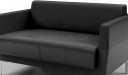 'Jane' Two Seater Sofa In Black PU Leather