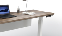 height adjustable office table with walnut wood top