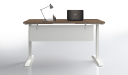 sit stand height adjustable desk front view