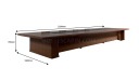shop drawing of 10 feet meeting table