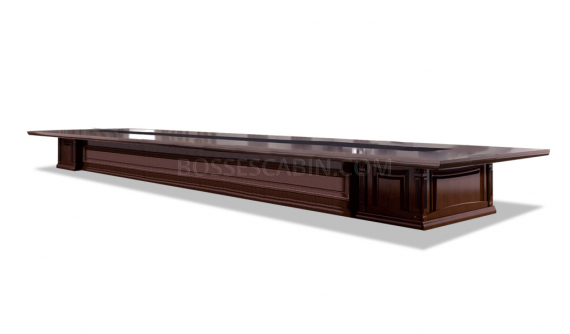 solid wood finish conference table in classical design