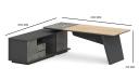 'Spiro' 6.5 Feet Office Desk In Light Oak Laminate