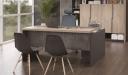 'Spiro' 5 Feet Office Desk In Light Oak Laminate