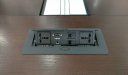 conference table wire box with power, internet, VGA and telephone ports