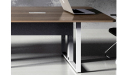 Meeting table with wire management provision in the legsi