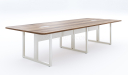 Meeting table with white metal legs