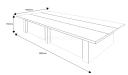 shop drawing of12 feet leading series conference table