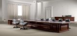 elegant conference room with large conference table in solid wood finish