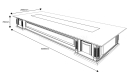 caesar 16 feet conference table shop drawing with size