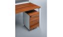 office workstation desk with storage pedestal