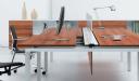 modular desking system with inbuilt raceway
