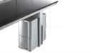 suspended CPU holder for modular office desks