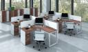 Laminate Workstation Furniture 'Linz' Shaped