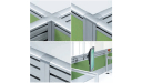 Smart Linear Office Workstations With Raceways