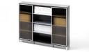 glass door filing rack and bookshelf