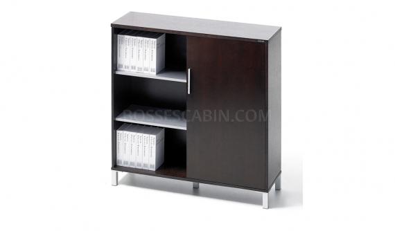 two door filing cabinet in oak veneer finish