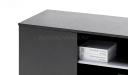 side cabinet for office desks in dark oak veneer
