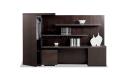 large office cabinet & bookshelf in dark wood