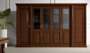 large wooden office cabinet and bookcase in classical design