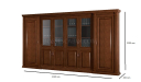 large office cabinet and bookshelf with dimensions