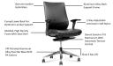 'Vertu' Ergonomic Office Chair In Leather