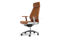 high back office chair in tan leather