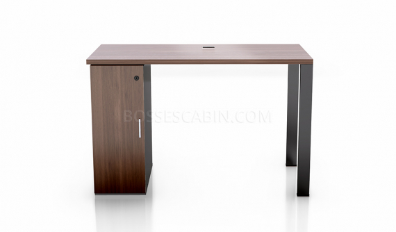 small office desk with storage cabinet