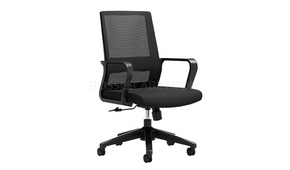 task chair in black mesh and fabric