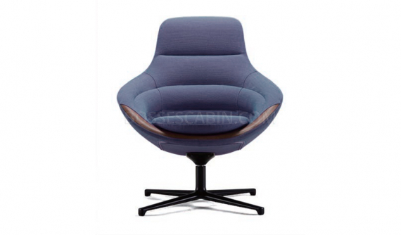 'D Series' Revolving Lounge Chair In Fabric