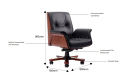 chesterfield office chair features and size