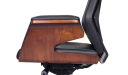 Coupe Office Chair In Black Leather